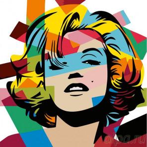 Раскладка Мэрилин Монро Раскраска картина по номерам на холсте PA20