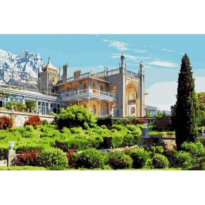 Воронцовский дворец Раскраска картина по номерам на холсте KRYM-CR02