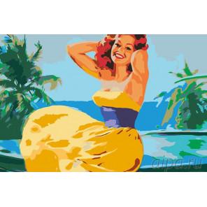 Отпуск в тропиках Раскраска картина по номерам на холсте RA039