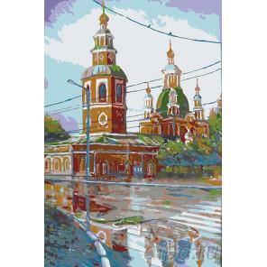 Церковь на углу Раскраска картина по номерам на холсте RA049
