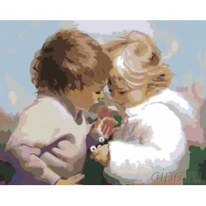 Раскладка Букетик ромашек Раскраска картина по номерам на холсте RA026