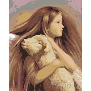 Раскладка Юный ангел Раскраска картина по номерам на холсте RA011
