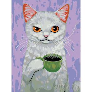 Утренний кофе Раскраска картина по номерам на холсте A291