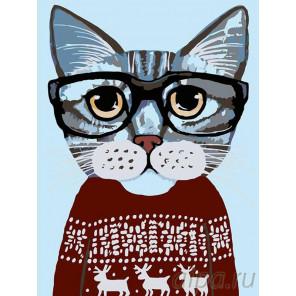 Раскладка В красном свитере Раскраска картина по номерам на холсте A195