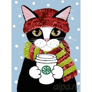 Горячий кофе Раскраска картина по номерам на холсте A196