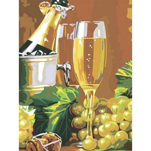 Раскладка Шампанское Раскраска картина по номерам на холсте N04