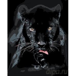 Схема Чистоплотная пантера Раскраска по номерам на холсте Живопись по номерам ARTH-AH274