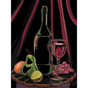 Схема Вино и фрукты Раскраска по номерам на холсте Живопись по номерам RA171