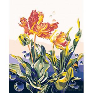 Ажурные тюльпаны Раскраска по номерам на холсте Живопись по номерам F46