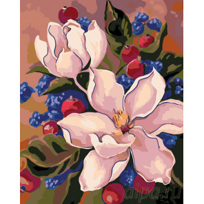 Цветы шиповника Раскраска по номерам на холсте Живопись по номерам F51