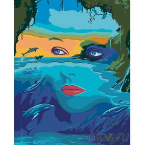Морская владычица Раскраска по номерам на холсте Живопись по номерам FT04