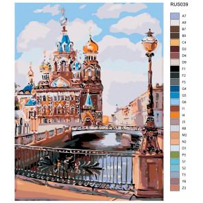 Раскладка Каналы Санкт-Петербурга Раскраска по номерам на холсте Живопись по номерам RUS039