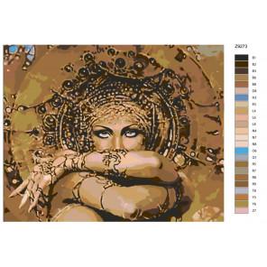 Раскладка Чарующий восток Раскраска по номерам на холсте Живопись по номерам Z-Z9273