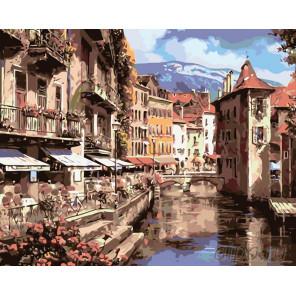 Кафе у канала Раскраска картина по номерам на холсте KTMK-922924