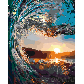 Хрустальная волна Раскраска картина по номерам на холсте KTMK-46831