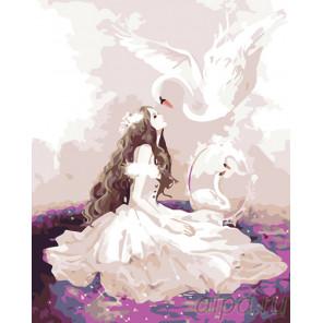 Лебедушка Раскраска по номерам на холсте Живопись по номерам KTMK-06226