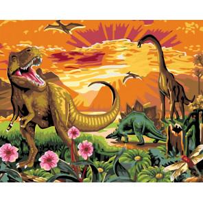 Динозавры Раскраска по номерам на холсте Живопись по номерам KTMK-085901