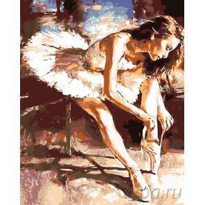 схема Балерина перед танцем Раскраска по номерам на холсте Живопись по номерам KTMK-54872
