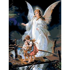 схема Под крылом ангела Раскраска по номерам на холсте Живопись по номерам Z-ZSPB101100166