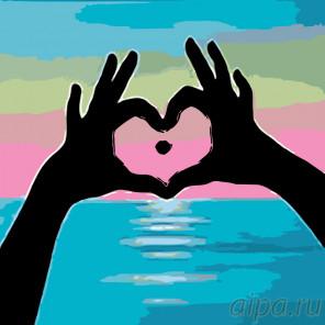 Сердце моря Раскраска по номерам на холсте Живопись по номерам RO81