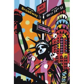 Радужная Америка Раскраска картина по номерам на холсте PA132