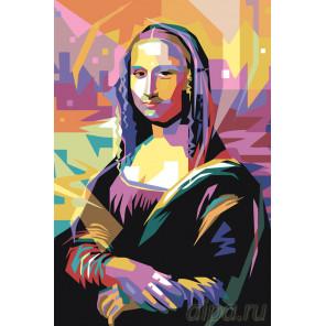 Радужная Мона Лиза Раскраска картина по номерам на холсте PA137