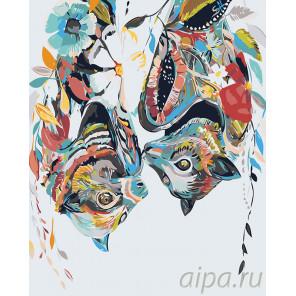 Летучие мыши Раскраска картина по номерам на холсте A492