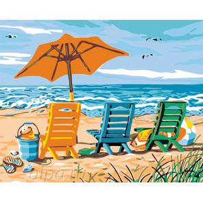 На пляже Раскраска по номерам на холсте Живопись по номерам KTMK-85143