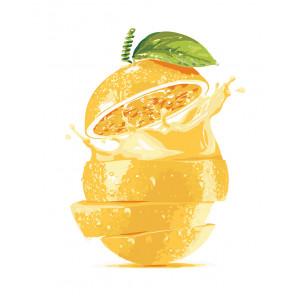 manual Апельсиновый сок Раскраска по номерам на холсте Живопись по номерам
