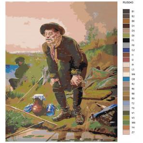 Макет Опытный рыбак Раскраска картина по номерам на холсте RUS043
