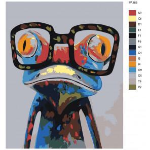 Макет Умный лягушонок Раскраска картина по номерам на холсте PA168