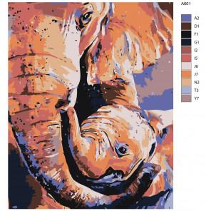 Макет Радостный малыш Раскраска картина по номерам на холсте A601