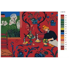 Контрольный лист Яблочное застолье Раскраска картина по номерам на холсте Z-AB178