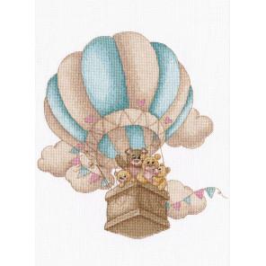 На воздушном шаре Набор для вышивания Овен 1222