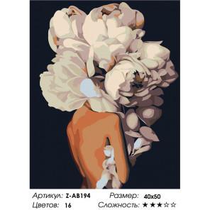 Сложность и количество цветов Скромный букет Раскраска картина по номерам на холсте Z-AB194
