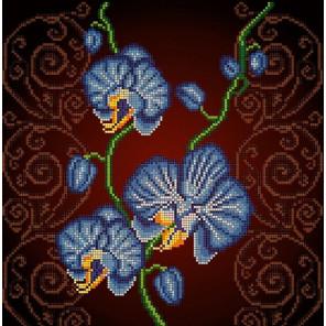 Орхидея голубая Ткань с рисунком Божья коровка 0031
