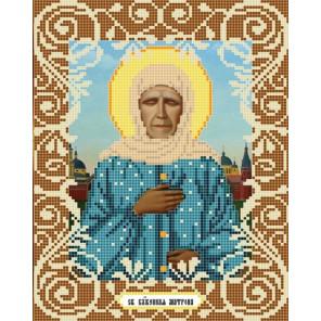 Пример оформления в рамку Святая Матрона Ткань с рисунком Божья коровка 0036