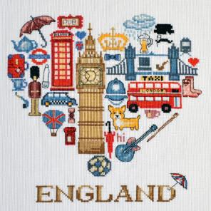 Пример вышитой работы Англия Набор для вышивания Марья Искусница