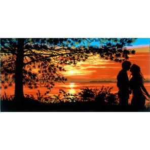 Поцелуй на закате Канва жесткая с рисунком для вышивки Gobelin L