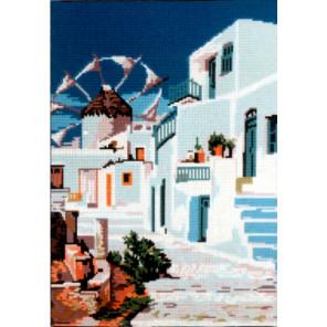 Солнечный город Канва жесткая с рисунком для вышивки Gobelin L