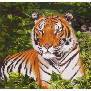 Тигр Канва жесткая с рисунком для вышивки Gobelin L