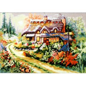 Цветущий палисадник Канва жесткая с рисунком для вышивки Gobelin L