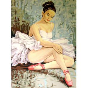 Балерина, разминающая колено Канва жесткая с рисунком для вышивки Gobelin L