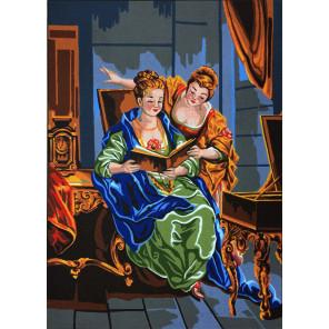 Читающие дамы Канва жесткая с рисунком для вышивки Gobelin L