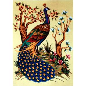 Павлин Канва жесткая с рисунком для вышивки Gobelin L