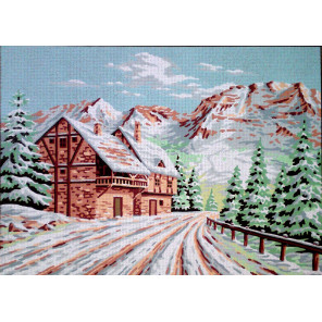 Зимний пейзаж Канва жесткая с рисунком для вышивки Gobelin L