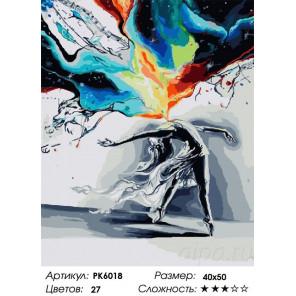 Всплеск чувств Раскраска картина по номерам на холсте PK6018