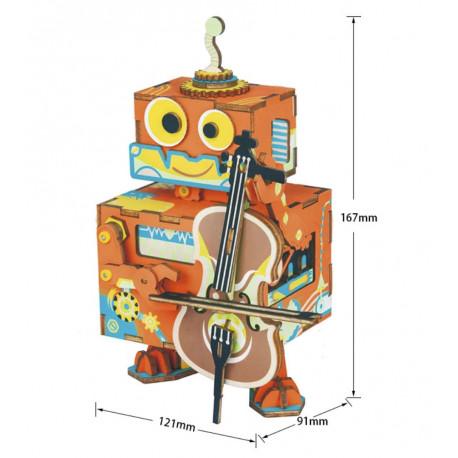 Маленький музыкант с музыкальным эффектом 3D Пазлы Деревянные AMD53