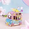 Фургончик с мороженым с музыкальным эффектом 3D Пазлы Деревянные AMD61