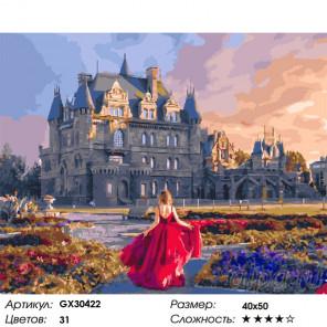 Сложность и количество цветов Английский замок Раскраска картина по номерам на холсте GX30422